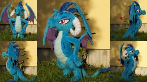Poseable Ember Dragon Lord Plushie [For Sale] by Egalgay