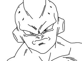 Kid Buu Outline by Michael-J-Caboose