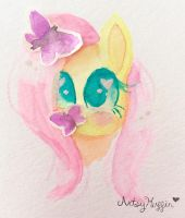 Watercolour Flutters by ArtsyMuffin