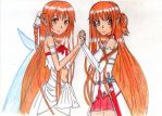 Asuna two sides by Wesnady