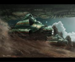Insectoid Attack Ships by Meewtoo