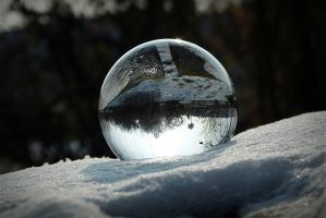 Crystal ball in snow by April-Mo