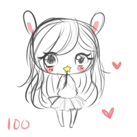 100 Points Sketch Commission (Pay here) by mochatchi