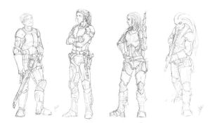 First squad - pencil sketch by nattzvart