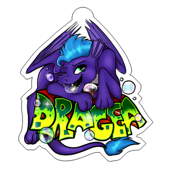 Com: Dragea bubble badge by Rodney5