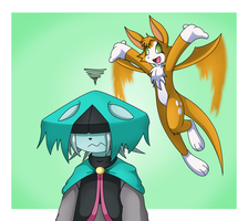 Dust and Fidget by rockmanzxadvent
