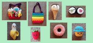 Rainbow Bag of Anthropomorphic Food by gochika