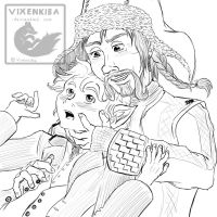 Bofur and Bilbo - Cuteness by Vixenkiba