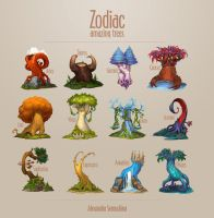 Amazing trees. Zodiac by Sedeptra