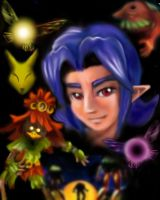 Majora's Mask Mural by LilleahWest