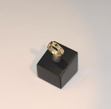 Golden diamond/sapphire ring by timjo