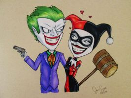 Joker and Harley by chilealea