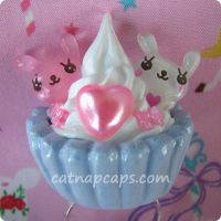 Bunny Bow Cupcake Ring by CatNapCaps