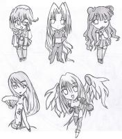 Angel Dust Chibis by Didaskaleinophobia