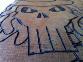 Wood Burned VooDoo Skull by Wytchdocta