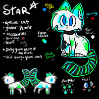 Ref Sheet: Star by Kitzophrenic