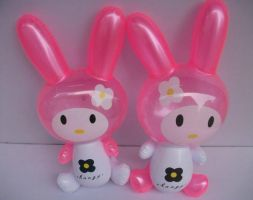 Inflatable Pink Bunnies by PoKeMoNosterfanZG