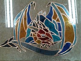 Stained glass - Dragon by HimmeltheBlue