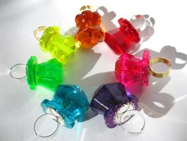 Heart Bling Pop rings! by pinkminx