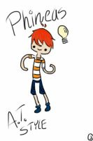 Phineas AT style by AdventureTime1Fan