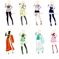 Naruto Outfit Adopts Batch 1 (CLOSED) by SpringPeachAdopts