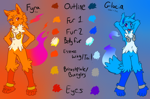 Fyra and Glacia :REF: FIXED by MewgletheWolf