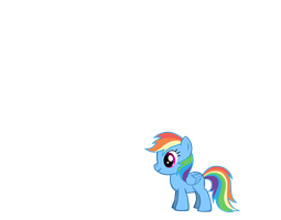 Rainbow Dash as a Filly by Jeromerocks37