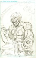 Asura Wrath sketch by JumpManPunk