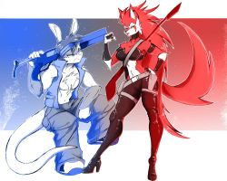 Blue VS Red by WhiteFox89