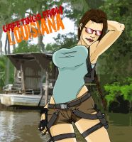 Lara Croft - greetings from... by lone-wolf-boudin