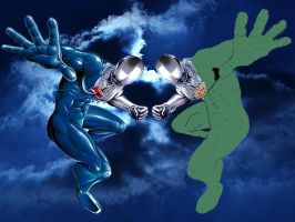 PEPSI MAN AND DEW MAN by Darkness-Man