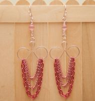 Twisted Metal Earrings with Chains by Tamkay13
