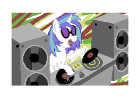 Vinyl Scratch (C64) by moemneop