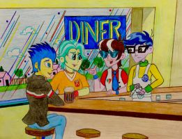 Flash Drive at the Diner by BravoKrofski
