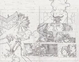 Stars 2 Page 20 and 21 Pencils by KurtBelcher1