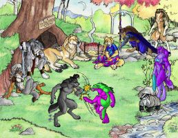 Wolfhome Party by Goldenwolf