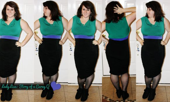 Miss Tina's Runched Color Block Dress by LadyLuck89