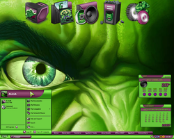 Incredible Hulk Desktop III by a666a