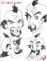 Neo Cortex (Anime Version) faces by Avril-TRON-LuKon