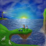 as the light  house sleeps by Azreal-the-prophet