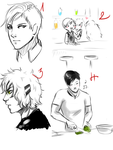 Maybe the smallest sketchdump ever...-TabletTales- by Rebcebab
