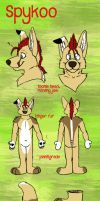 Spykoo fursuit plan by Grion