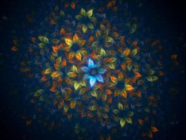 Fractalpainted Flowers by love1008