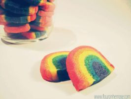Rainbow Cookies by MomentoMori08