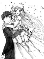 Chobits wedding by princessmoony