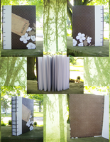 Little Flowers: Coptic Bound Sketchbook  FOR SALE! by LadyDragonKia