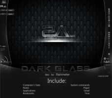 +MOD+ Dark Glass for Rainmeter by VicK88