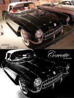 before and after pic of Corvette by DukeDalton