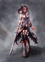 Dark Warrior - Female by DrakeTurtle