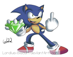 Sonic gets a chaos emerald by Lordius-Biscuit